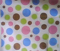 dots pink green brown blue