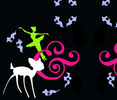 fairy song fabric by dreamycatz on Spoonflower - custom fabric