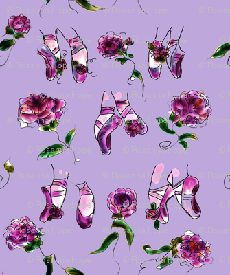 Slippers and Roses Wisteria by Rosanna Hope