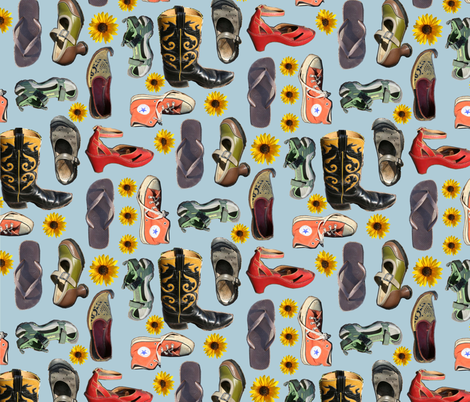 The_Shoes fabric by mandzy on Spoonflower - custom fabric