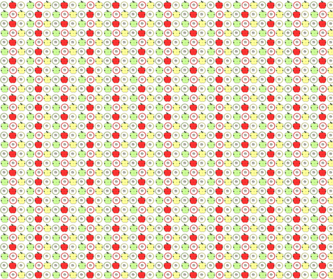 Small Sweet Apples fabric by geemarie on Spoonflower - custom fabric