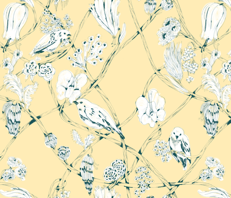 Anne - Cream fabric by gantpants on Spoonflower - custom fabric