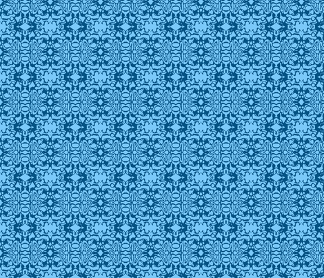 Blue Swirl Batik fabric by weedesigns on Spoonflower - custom fabric
