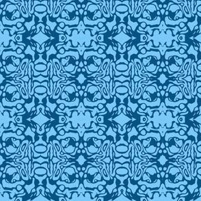 Blue Swirl Batik