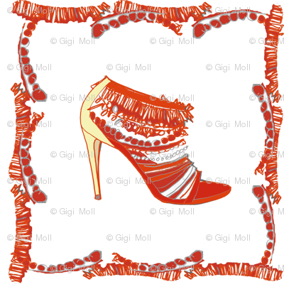 Red shoe frame