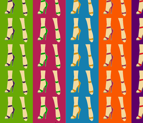 shoes fabric by asheville_design_house on Spoonflower - custom fabric