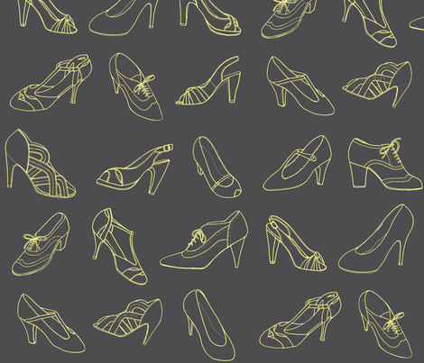 my favourite shoes fabric by leonielovesyou on Spoonflower - custom fabric