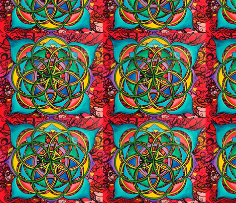 Mandala fabric by heatherpeterman on Spoonflower - custom fabric