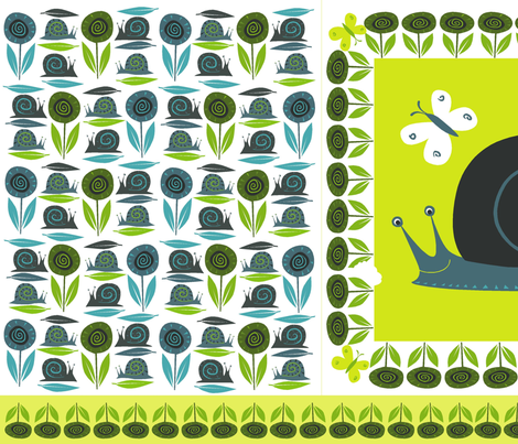 snail_pillow fabric by antoniamanda on Spoonflower - custom fabric