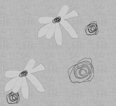 FUNKY FLOWERS-Gray-194