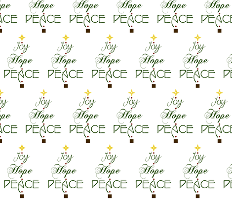 Joy, Hope, Peace fabric by winter on Spoonflower - custom fabric