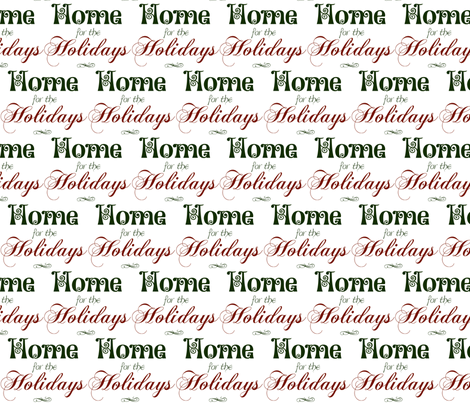 Home for the Holidays fabric by winter on Spoonflower - custom fabric