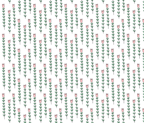 skinny floral fabric by anda on Spoonflower - custom fabric
