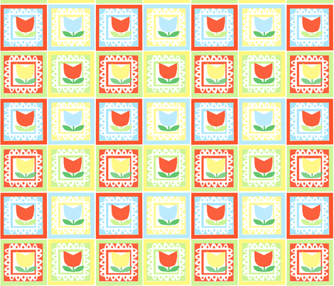 Tulip Blocks fabric by anda on Spoonflower - custom fabric