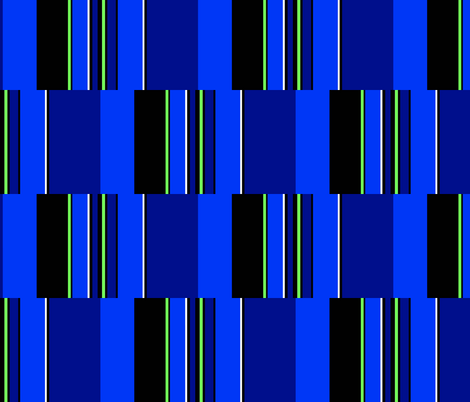 RocZ BLUE Brick/Stripe fabric by paragonstudios on Spoonflower - custom fabric