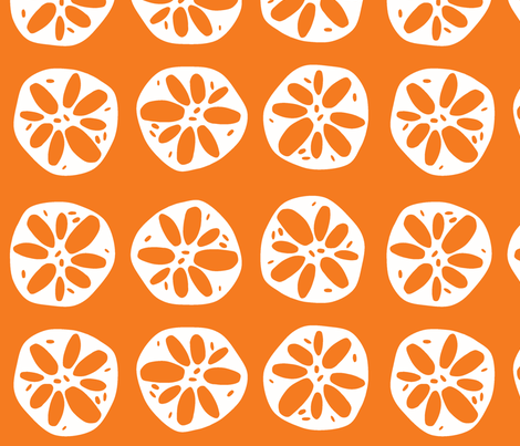 large orange lotus root fabric by clearlytangled on Spoonflower - custom fabric