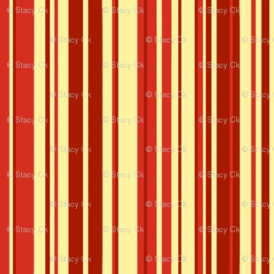 SCK Damask Red Cream Stripe