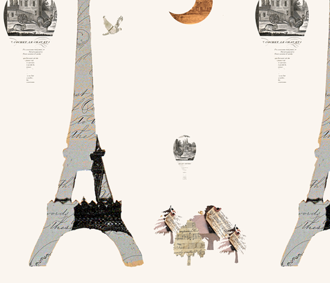 Paris Cream fabric by karenharveycox on Spoonflower - custom fabric