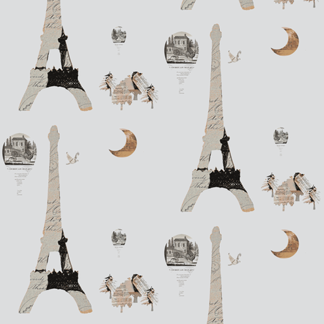 Paris Gray fabric by karenharveycox on Spoonflower - custom fabric