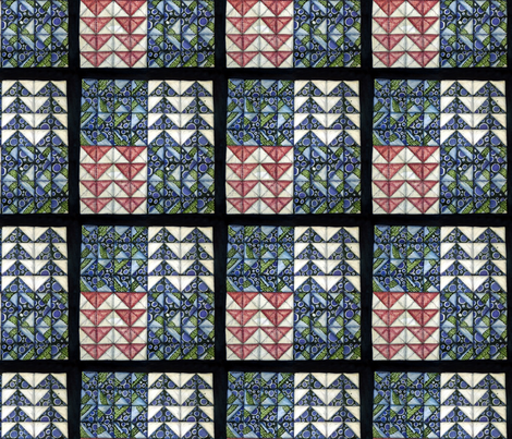 Flying Geese Quilt Square fabric by helenklebesadel on Spoonflower - custom fabric