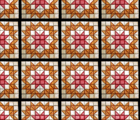 Wagon Wheel Quilt Squre fabric by helenklebesadel on Spoonflower - custom fabric