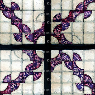 Drunckard's Path Quilt Square