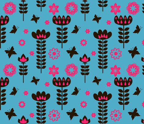 Butterfly_and_flower fabric by fhiona on Spoonflower - custom fabric