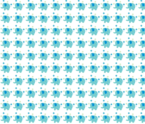 blue elephant fabric by fhiona on Spoonflower - custom fabric