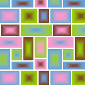 squares pink green brown blue
