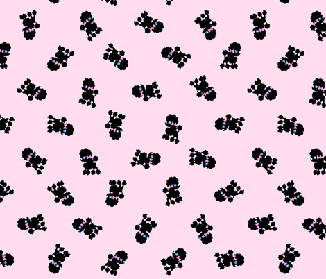 Poodles 2 fabric by tenderlovingclaire on Spoonflower - custom fabric