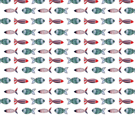 ban de poisson fabric by nadja_petremand on Spoonflower - custom fabric