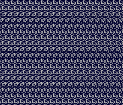 Grey cranks on dark blue fabric by kelly_ballantyne on Spoonflower - custom fabric