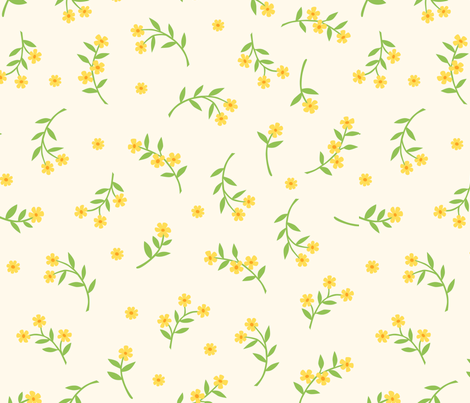 dottyflowers fabric by mrsjellyfish on Spoonflower - custom fabric