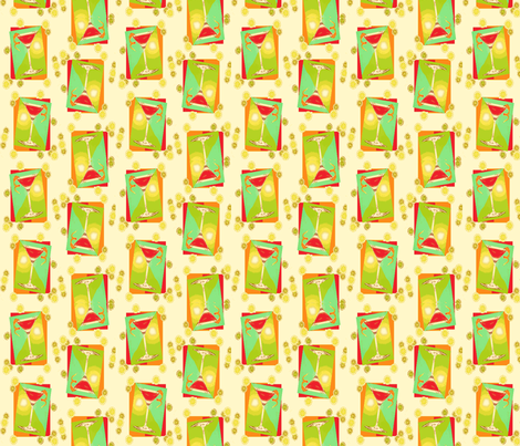 Cocktail_fabric-ed-ch fabric by nrink on Spoonflower - custom fabric