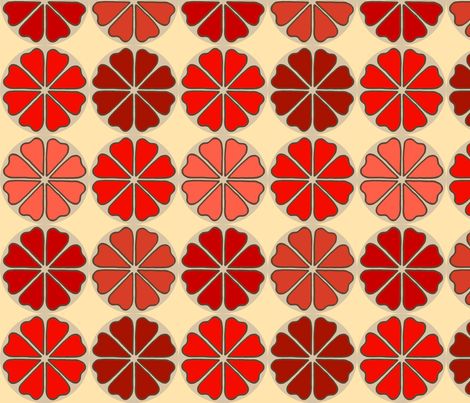 decoflowers_red_candy fabric by holli_zollinger on Spoonflower - custom fabric