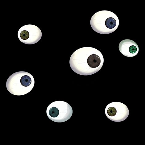 Eyeballs fabric by squarejane on Spoonflower - custom fabric