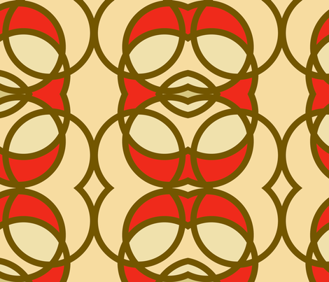 seafoam_circles_red fabric by holli_zollinger on Spoonflower - custom fabric