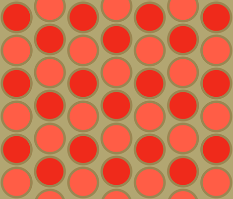 mod_circle_coral fabric by holli_zollinger on Spoonflower - custom fabric