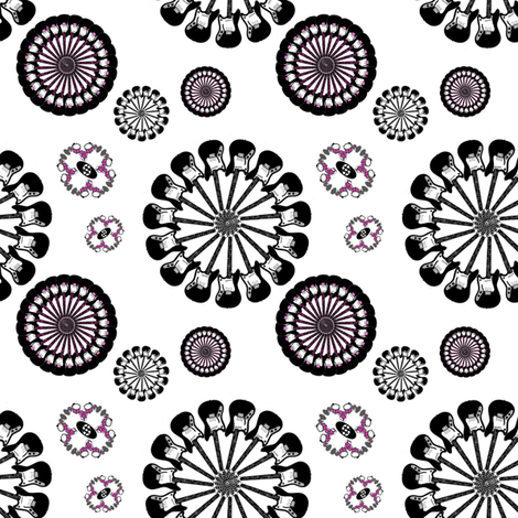 GuitarFlowers fabric by upcyclepatch on Spoonflower - custom fabric
