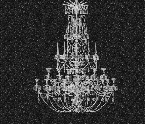 Vintage Chandelier 22x22 fabric by dentednj on Spoonflower - custom fabric