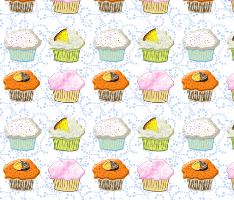 cupcake quartet fabric by ajr51594 on Spoonflower - custom fabric