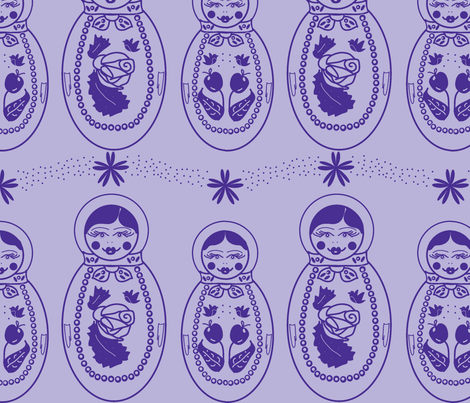 Purple russian dolls fabric by babysisterrae on Spoonflower - custom fabric