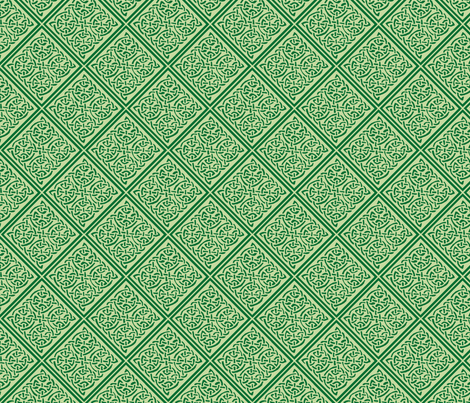 Green Knotty Tile 1 fabric by ingridthecrafty on Spoonflower - custom fabric