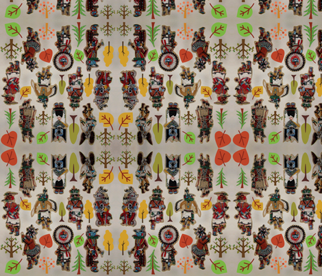 KACHINA DANCERS fabric by paragonstudios on Spoonflower - custom fabric