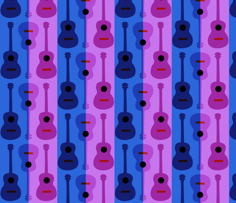 oh yikes, ukes dark fabric by vo_aka_virginiao on Spoonflower - custom fabric