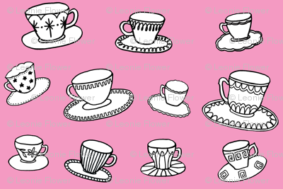 pink teacups