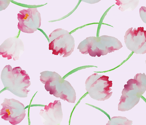 tulips fabric by mmckeithan on Spoonflower - custom fabric