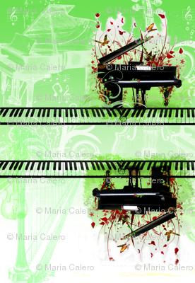classical piano green
