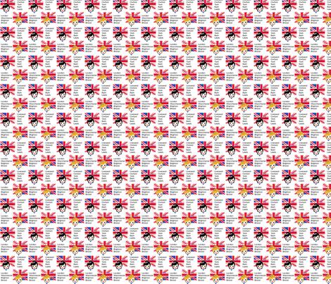 Brit Chick fabric by kiwicuties on Spoonflower - custom fabric