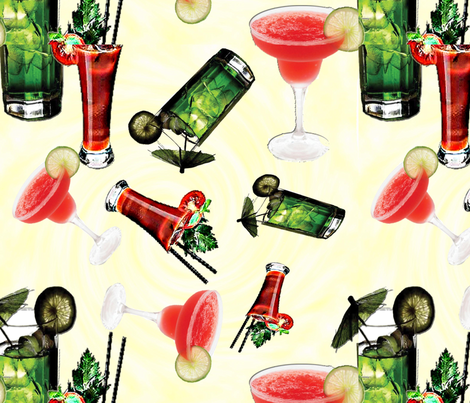 cocktails5 fabric by stacey_drescher on Spoonflower - custom fabric